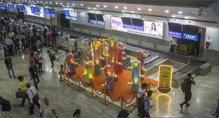 Brands make Diwali count at Mumbai airport