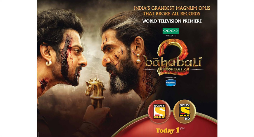 Sony MAX Baahubali 2: The Conclusion premier is the highest