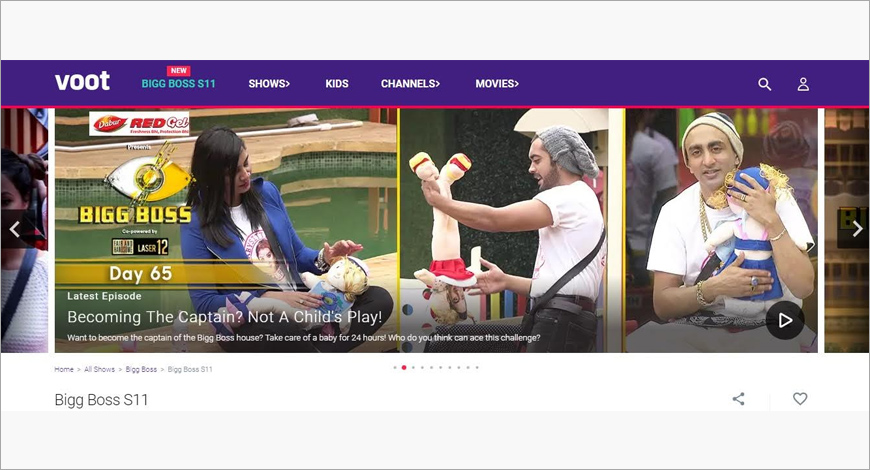 Bigg Boss is the biggest entertainment property in the online video