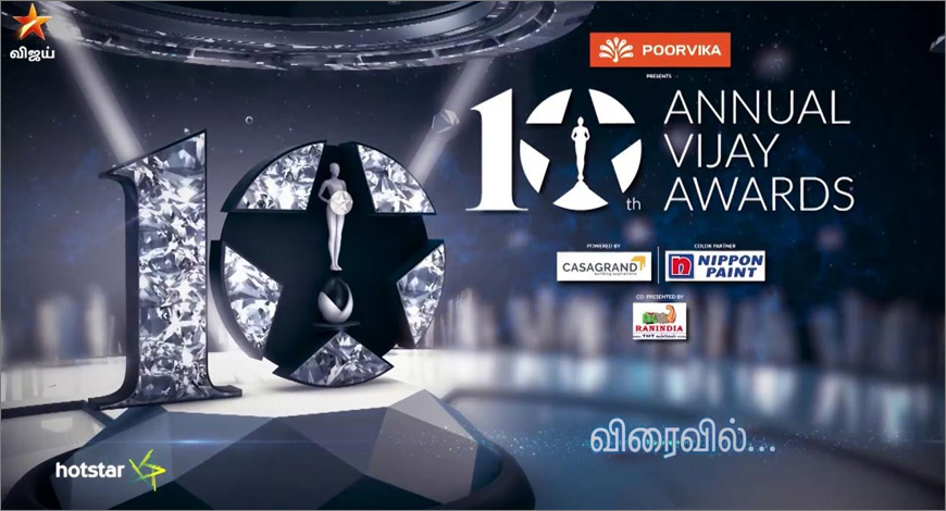 Poorvika Mobiles 10th Annual Vijay Awards to be telecast on 16th