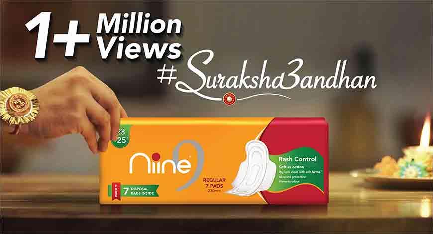 Niine sanitary napkins' campaign #SurakshaBandhan garners