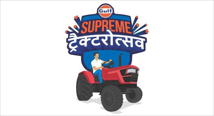 Gulf oil tractor