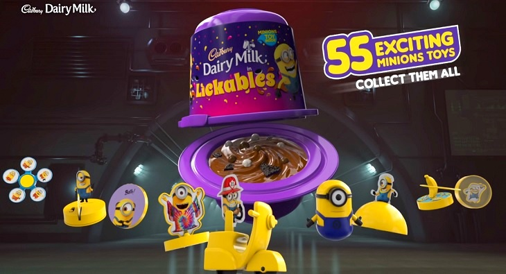 Cadbury Dairy Milk Lickables Minions