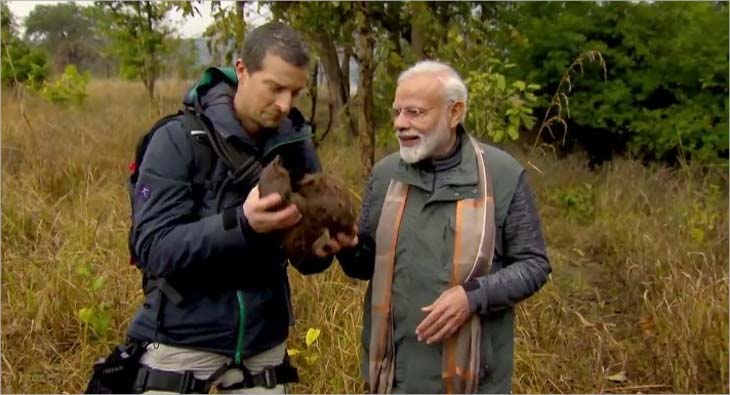 Image result for 'Fearless' Modi with Bear Grylls ..! - Man vs Wild Show