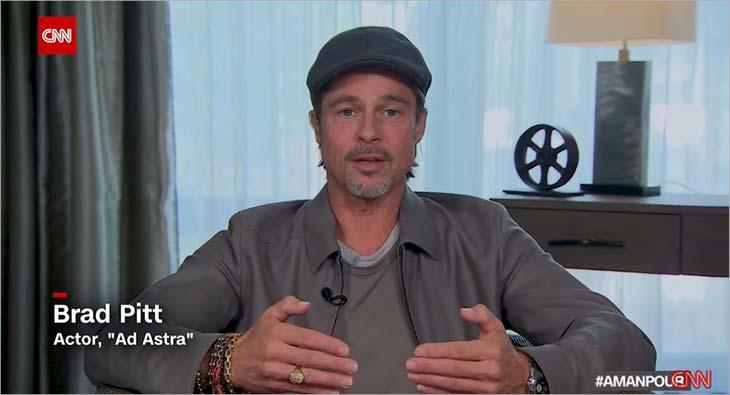Brad Pitt and Christiane Amanpour