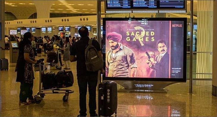Sacred Games DOOH on airport