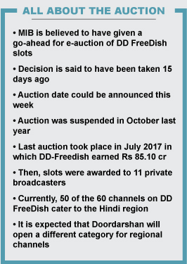 DD FreeDish to announce e-auction date soon - Exchange4media