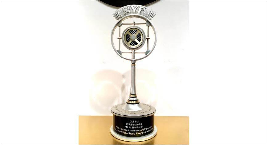 Club FM 94.3 bags Silver metal at New York Festivals International Radio Program Award 2017